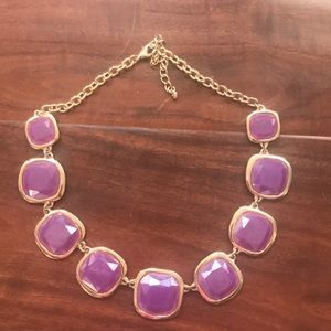 Purple statement necklace